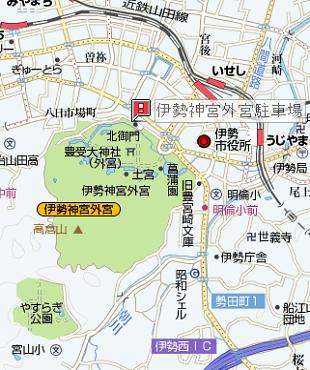 伊勢神宮 外宮駐車場地図