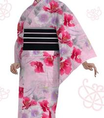薄いピンク浴衣