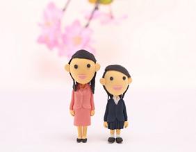 入学式母親と娘