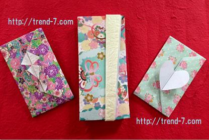 お正月ポチ袋手作り 折り紙3種類